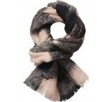 Maison Scotch Wool Checked Scarf