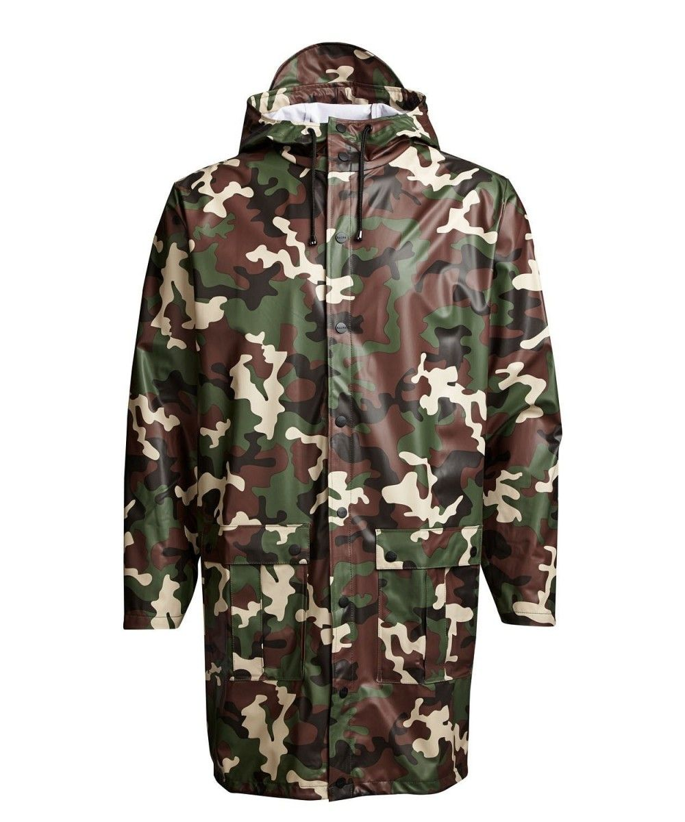Rains Long Coat Camo