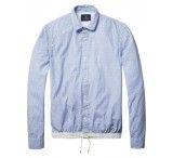 Scotch & Soda Longsleeve shirt with nylon wa