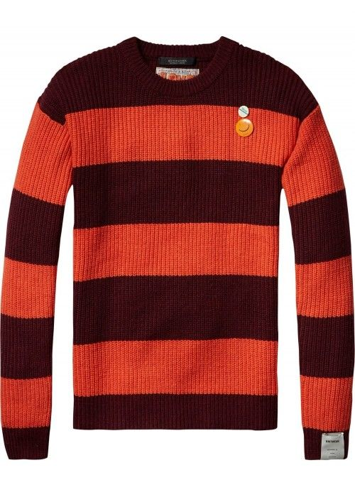 Scotch & Soda Crewneck pullover block stripe
