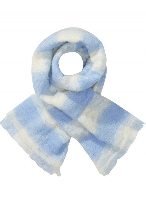 Maison Scotch Fluffy checked wool scarf