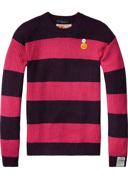 Scotch & Soda Crewneck pullover in bold