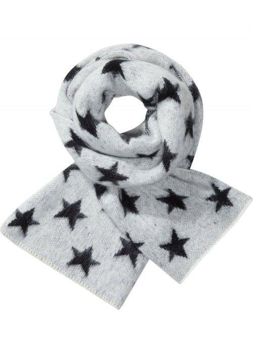 Maison Scotch Fluffy star patterned scarf