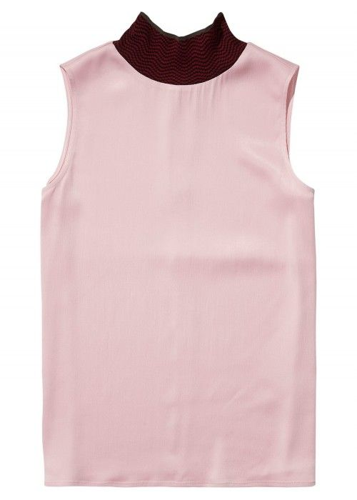 Maison Scotch Sleeveless viscose turtleneck