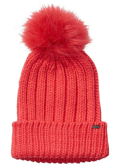 Maison Scotch Colourful beanie faux fur pom