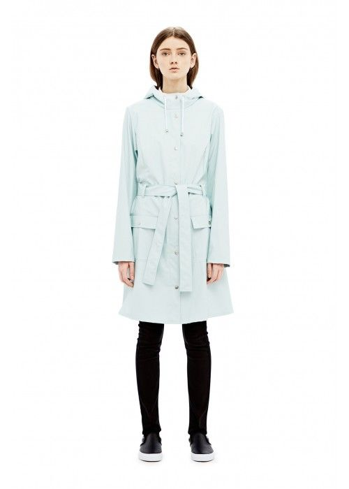 Rains Curve Jacket Light Blue
