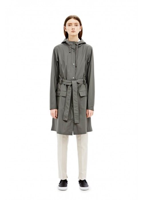 Rains Curve Jacket Grey