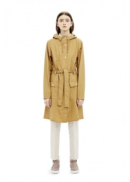 Rains Curve Jacket Khaki