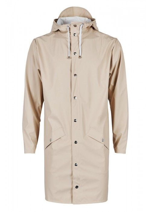 Rains Long Jacket Sand