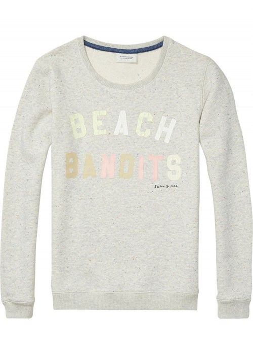 Maison Scotch Basic sweat with various artwo