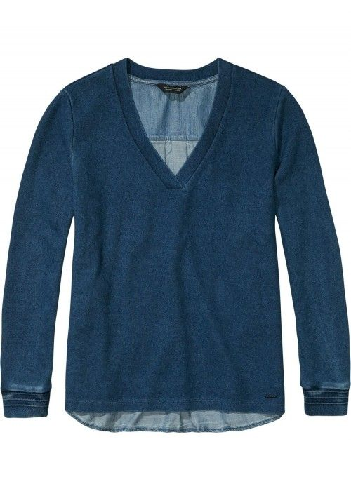 Maison Scotch Soft Sweat with denim back