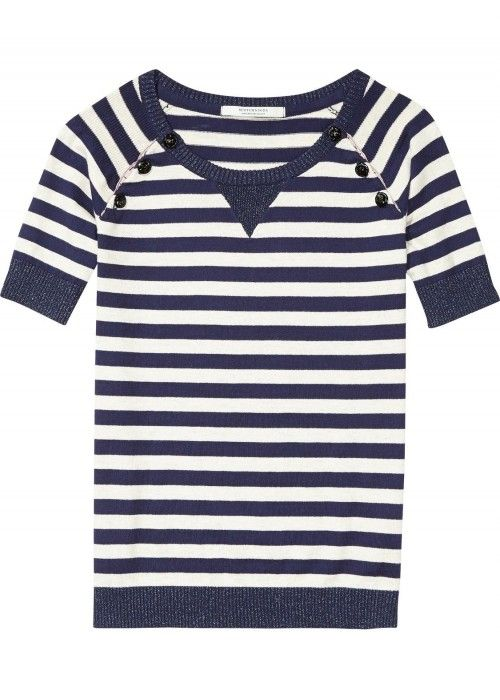 Maison Scotch Short sleeve pull with closure