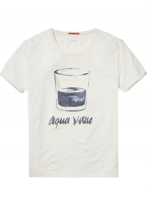 Scotch & Soda AMS Blauw Distellery Tee