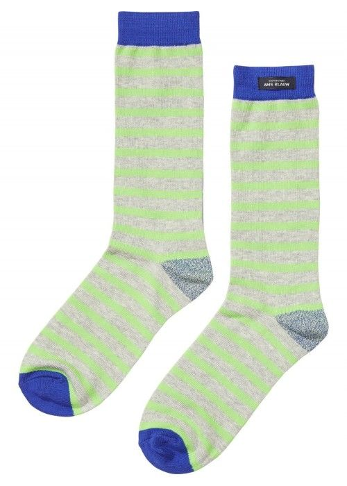 Scotch & Soda AMS Blauw Moon Striped Socks