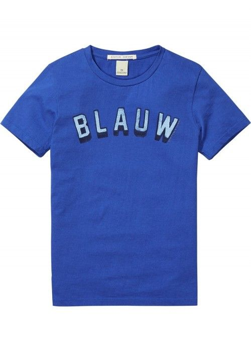 Scotch Shrunk Short Sleeve AMS Blauw Tee