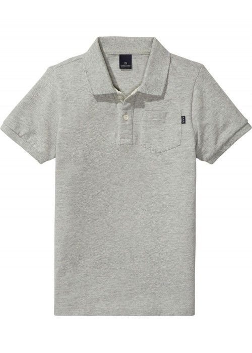 Scotch Shrunk AMS Blauw Garment Dyed Polo