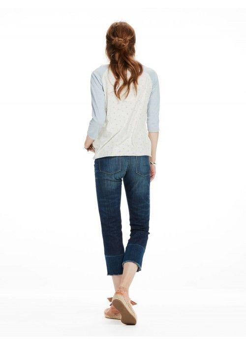 Maison Scotch 3/4 Sleeve a-line tee with var