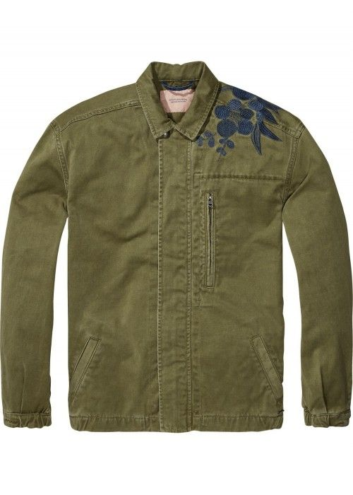 Maison Scotch Army Jacket with embroidery