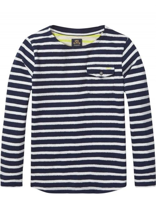 Scotch Shrunk Long Sleeve Breton Tee