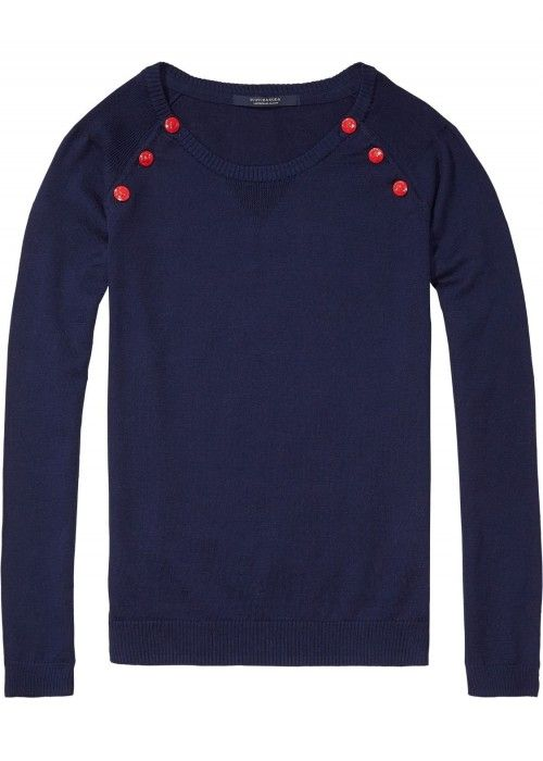 Maison Scotch Basic Pull with button closure