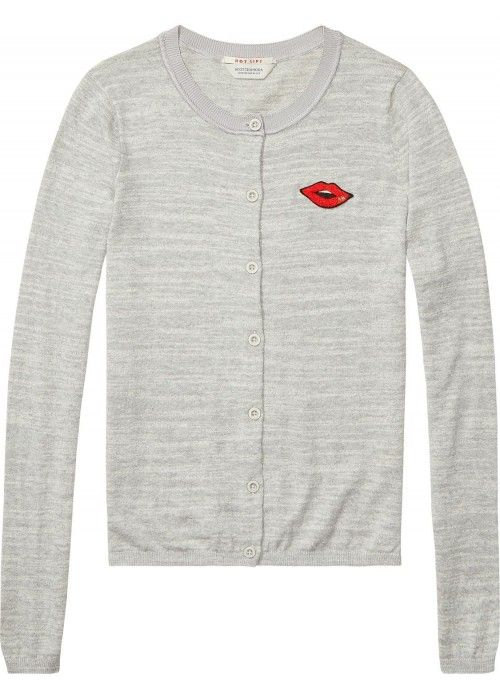 Maison Scotch Basic cardigan with badge