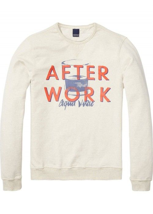 Scotch & Soda AMS Blauw Layered Graph Sweat