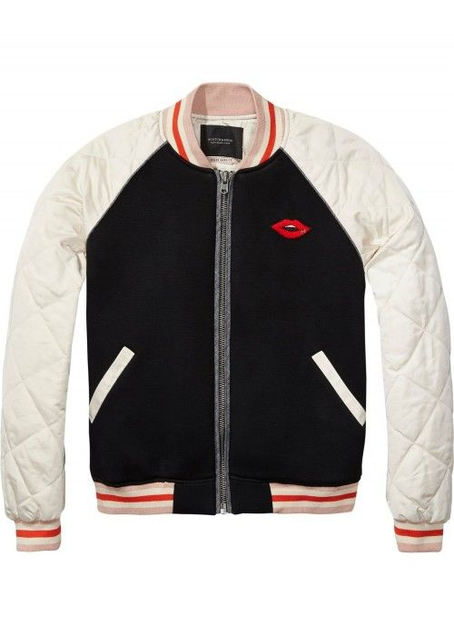 Maison Scotch Bomber jacket with contrast