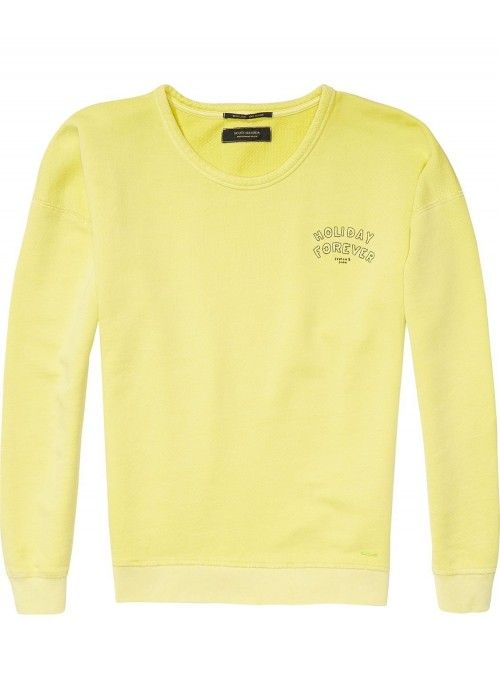 Maison Scotch Garment dyed sweat in cool