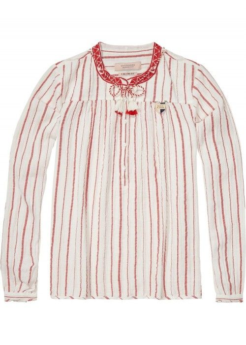 Maison Scotch Drapey woven top in various st