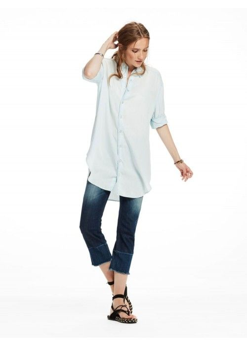 Maison Scotch Drapey summer shirt longer