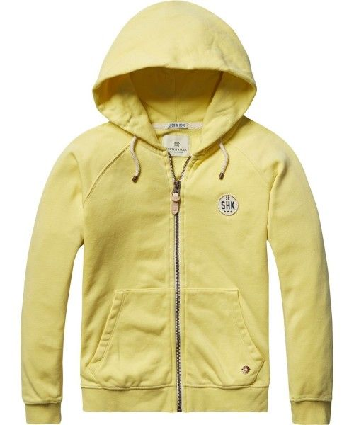 Scotch Shrunk Soft brushed hooded zip