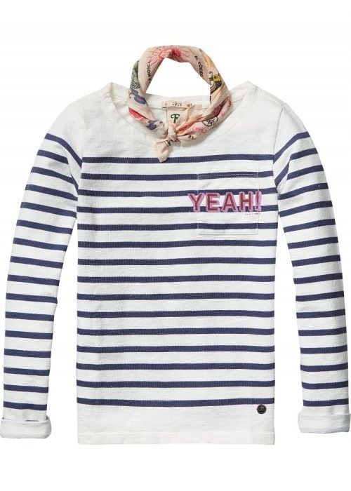 Scotch R'belle Breton striped boatneck with