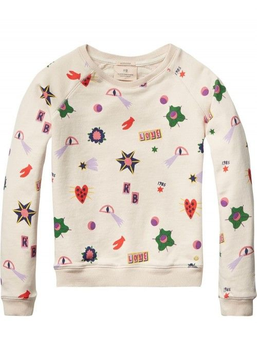 Scotch R'belle Crewneck sweat with all-over