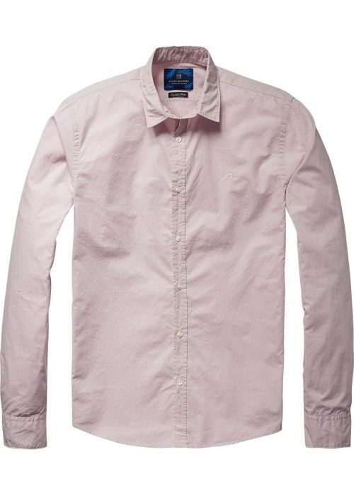 Scotch & Soda Classic shirt in crispy cotton
