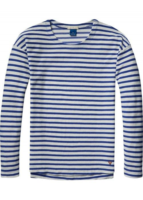 Scotch & Soda Longsleeve tee in pique qualit