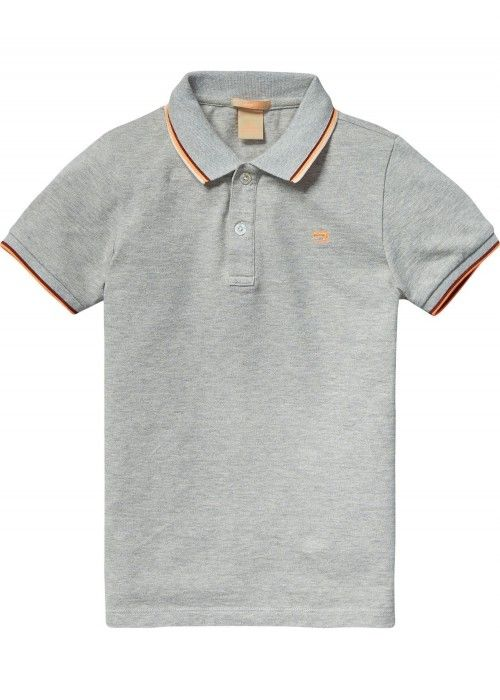 Scotch Shrunk Cotton-elestane polo with cont