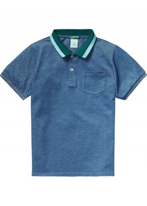Scotch Shrunk Preppy pique polo with contras