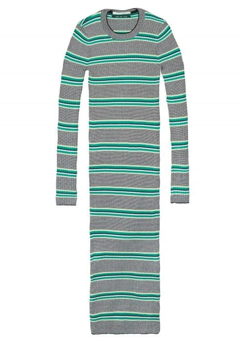 Maison Scotch Slim fit rib midi dress