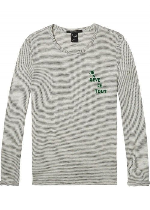 Maison Scotch Long sleeve tee with