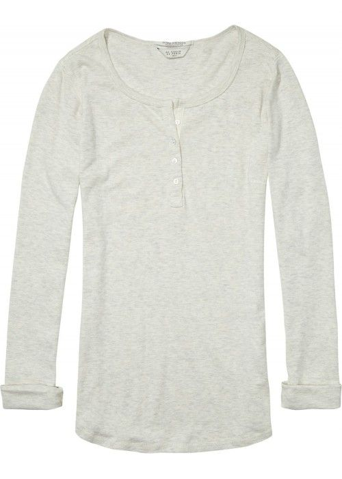 Maison Scotch Long sleeve grandad top