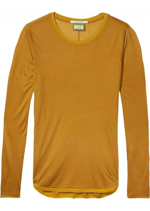 Maison Scotch Long sleeve basic tee