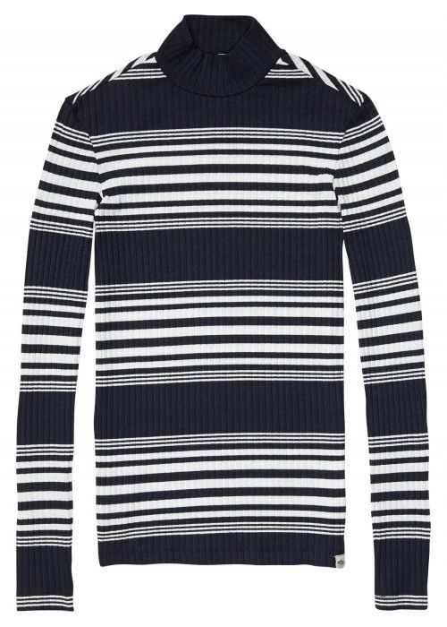 Maison Scotch Long sleeve rib turtle neck