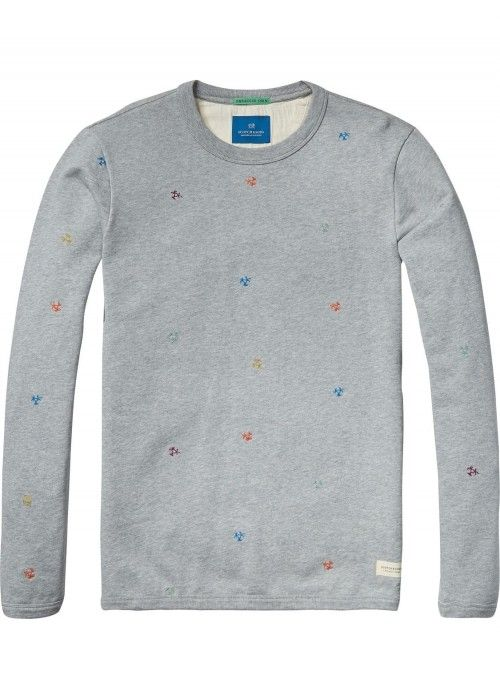 Scotch & Soda Crewneck sweat in felpa qualit