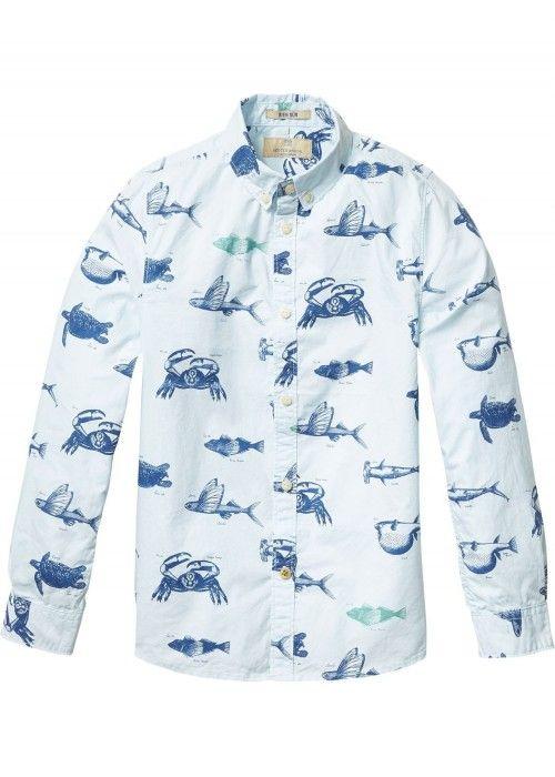 Scotch Shrunk All-over printed shirt