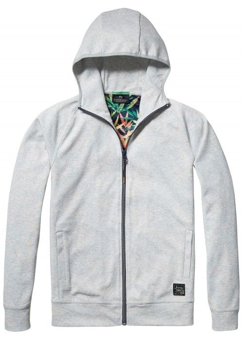 Scotch & Soda Hooded track jacket in lightwe