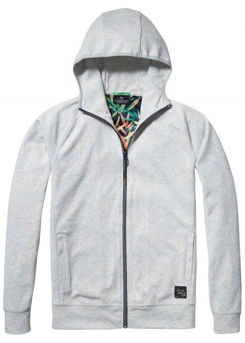 Scotch & Soda Hooded track jacket in lightwe