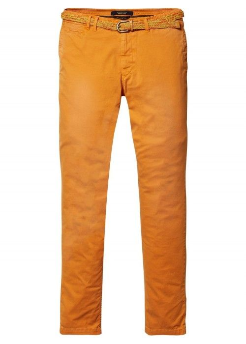 Scotch & Soda Garment dyed chino pant in str