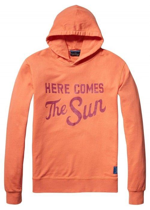 Scotch & Soda Garment dyed longsleeve hoodie