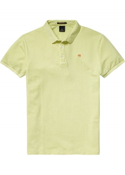 Scotch & Soda Garment dyed polo in pique