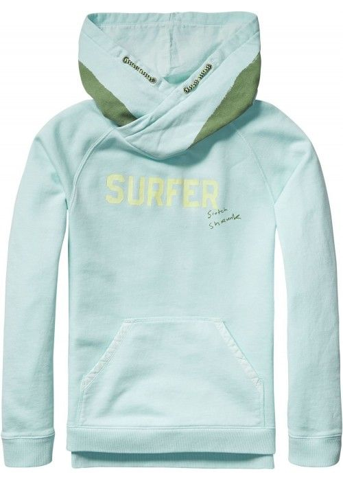 Scotch Shrunk Garment dye twisted hood sweat